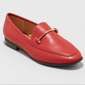 """EUC A New Day """"Perry"""" red faux leather loafers 9.5"""